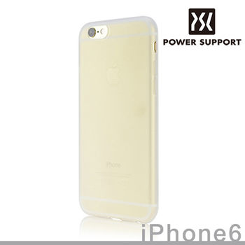 POWER SUPPORT iPhone6s / 6 Silicon Jacket 矽膠保護套 (附螢幕保護貼) - 透白