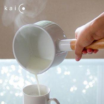 日本 《kaico》 簡約風 琺瑯牛奶鍋 - M (1.45L)