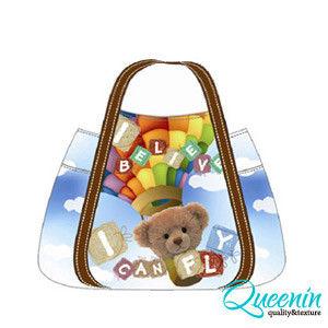 DF Queenin - 日本銷量NO.1休閒款x熱氣球熊購物包-小
