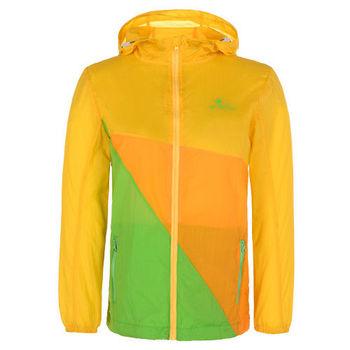 【聖伯納 St.Bonalt】男中童-超輕薄拼接防曬風衣-黃橙綠(80130)
