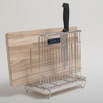 《舒適屋》 不銹鋼菜刀砧板架/收納架