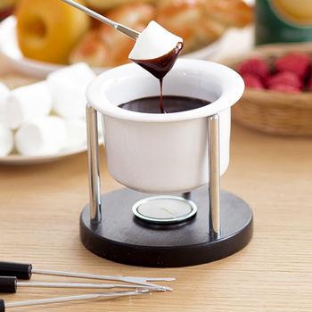 《舒適屋》精緻陶瓷巧克力鍋(2色可選)
