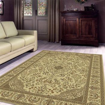 【范登伯格】水晶順柔亮彩絲質進口地毯-(米/紅色)140x190cm