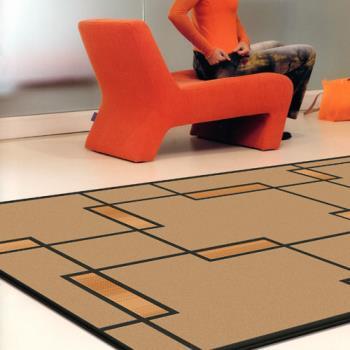【范登伯格毯】光影舞極簡低調進口地毯/地墊/門墊/玄關墊140x200
