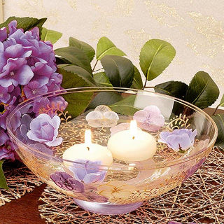 【Madiggan貝斯麗】鬱金香系列手工彩繪開運玻璃碗(紫紅.藍色可選)