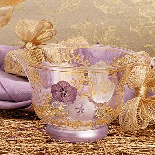 【Madiggan貝斯麗】鬱金香系列手工彩繪開運玻璃燭杯(紫紅.藍色可選)
