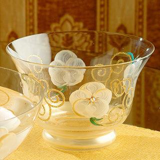 【Madiggan貝斯麗】玫瑰系列手工彩繪開運玻璃燭杯(紫.金黃.粉紅可選)