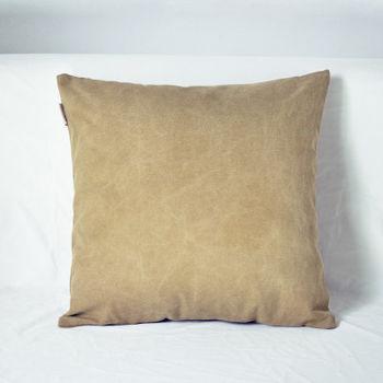 【協貿】簡約現代宜家牛仔布鵝黃沙發方形抱枕含芯