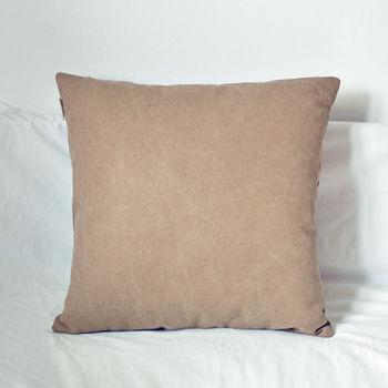【協貿】簡約現代宜家牛仔布淺咖啡沙發方形抱枕含芯