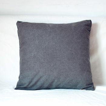 【協貿】簡約現代宜家牛仔布深空灰沙發方形抱枕