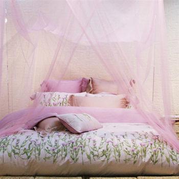 LS防蚊方型5尺蚊帳-雙人(米、粉、紫)