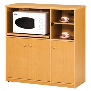 【顛覆設計】潮濕剋星-防水塑鋼3.3尺碗碟櫃/電器收納櫃(三色可選)
