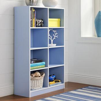 【咱的厝】DIY輕鬆收納八格櫃/書櫃/置物櫃/收納櫃(藍色)