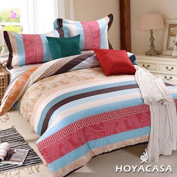 HOYACASA 天使之城 雙人四件式純棉兩用被床包組