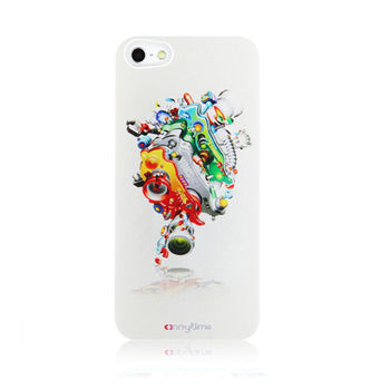 APPLE IPHONE 5 / 5S 寶島漫波彩繪背蓋-玩亨 機械体004 保護殼