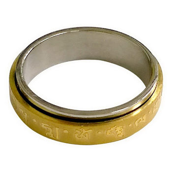 【十相自在】轉運鋼戒指(黃財神)
