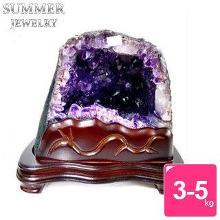 【SUMMER寶石】《3-5公斤》巴西天然桌上型紫晶洞(隨機出貨)