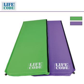 LIFECODE《馬卡龍》雙面可用自動充氣睡墊-厚3cm (紫色/粉綠)