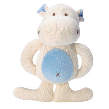 美國miYim有機棉 固齒娃娃禮盒 (河馬)