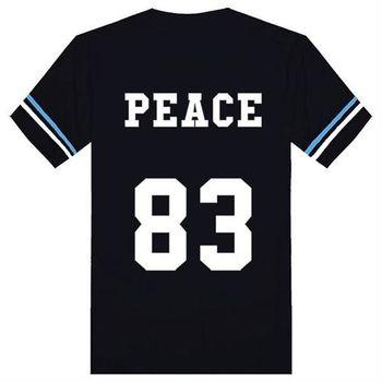 【男人幫】T1148*超人氣雜誌介紹【和平者潮流滾條紋短袖T恤】大尺碼 潮流PARYT情人節特惠