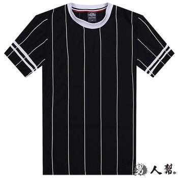 【男人幫】T1165*MIT 台灣製造【袖口條紋直條棒球外套T恤二用式】情侶T 潮流PARYT情人節特惠