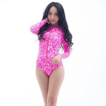 【SARBIS】防曬/衝浪/防水母螫咬大女連身三角水母衣B0050-08