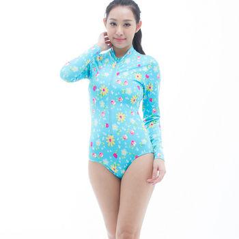 【SARBIS】防曬/衝浪/防水母螫咬大女連身三角水母衣B0050-06