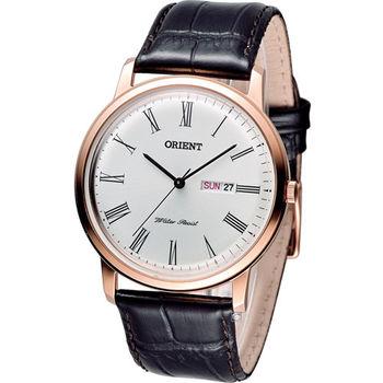 東方 ORIENT 經典羅馬都會腕錶 FUG1R006W 玫瑰金色