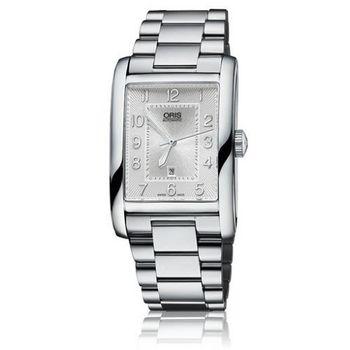 Oris Rectangular 藝術方形日期腕錶/28mm(0156176934061-0782220)