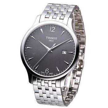 天梭 TISSOT T-TRADITION系列極簡雅士時尚腕錶 T0636101106700 灰面