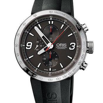 ORIS TT1計時機械腕錶-灰/橡膠(O674.7659.41.63RS)-45mm