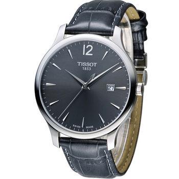 天梭 TISSOT Tradition系列 懷舊經典時尚腕錶 T0636101608700 灰