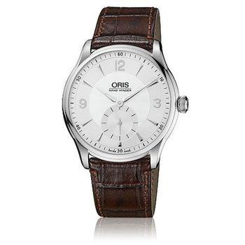 ORIS Artelier 藝術家手上鍊超薄腕錶-銀X咖啡/40mm(39675804051L)