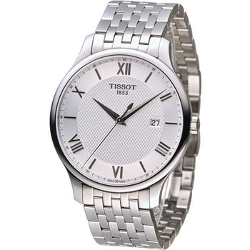 天梭 TISSOT Tradition系列懷舊古典時尚腕錶 T0636101103800 白