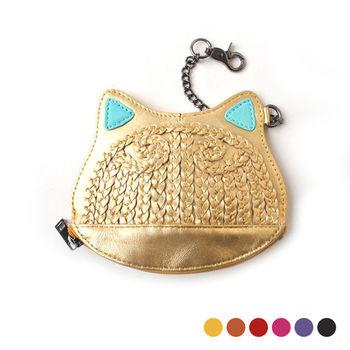 【PETiTEY】貓奴必敗 可愛貓零錢包 隨身包 卡片夾 卡片包 化妝包 可放IPHONE6手機(6色)