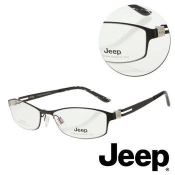 【JEEP】純鈦全框黑色光學眼鏡(J-F8010-C1)