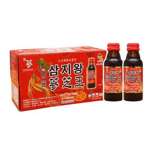 金蔘-6年根韓國高麗人蔘蔘芝王(100ml*10瓶 共5盒)贈蔘芝王5瓶