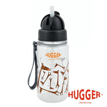 英國Hugger Tritan彈跳吸管水壺 (長頸鹿)
