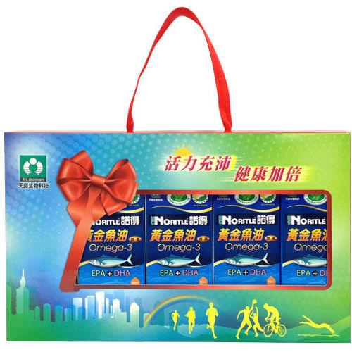 諾得健字號黃金魚油膠囊Omega-3(EPA+DHA)(30粒x5瓶)+禮盒