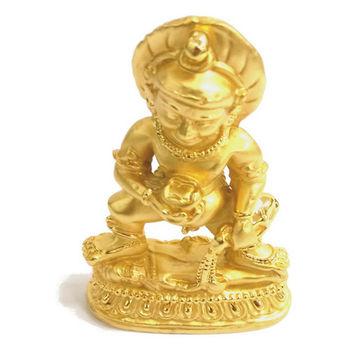 【十相自在】6.2公分 小佛像/法像-金色(黑財神)