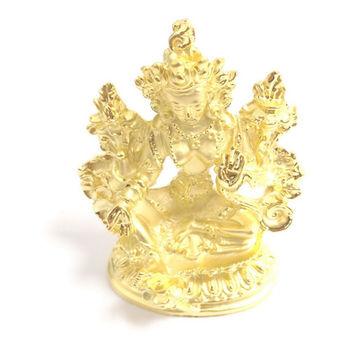 【十相自在】5.8公分 小佛像/法像-金色(綠度母)