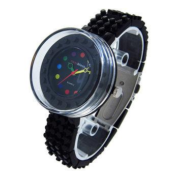 【nanoblock河田積木】圓形手錶 黑色WA19(微型積木)