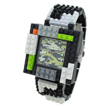 【nanoblock河田積木】中性錶黒框綠迷彩面WA14(微型積木)
