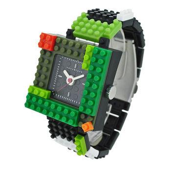 【nanoblock河田積木】中性錶軍綠框黒面WA12(微型積木)