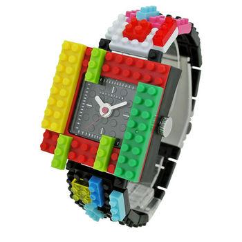【nanoblock河田積木】中性錶紅框黒面WA11(微型積木)