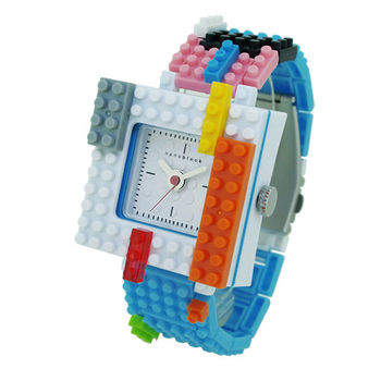 【nanoblock河田積木】中性錶水藍色WA10(微型積木)