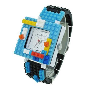 【nanoblock河田積木】中性錶黑框銀面WA06(微型積木)