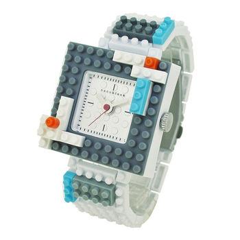 【nanoblock河田積木】中性錶灰框銀面WA07(微型積木)