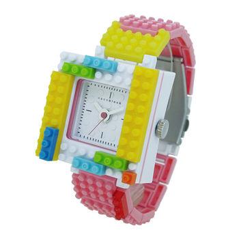 【nanoblock河田積木】中性錶粉紅色WA09(微型積木)