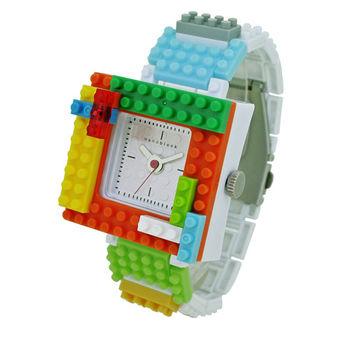 【nanoblock河田積木】中性錶白色WA01(微型積木)